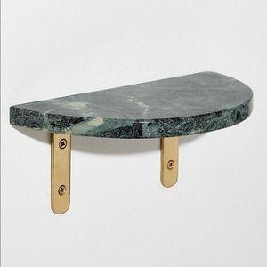 Anthropologie (1) green marble Demi shelf